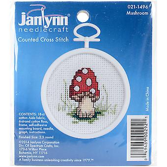 Mushroom Mini Counted Cross Stitch Kit-2.5