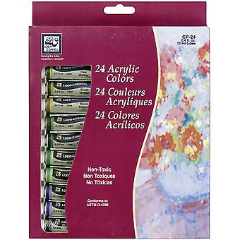 Acrylic Paints 12Ml 24 Pkg Assorted Colors Cp 24