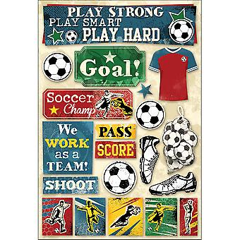 Football, Stickers papier cartonné 5.5 « X 9 » objectif Kf11588