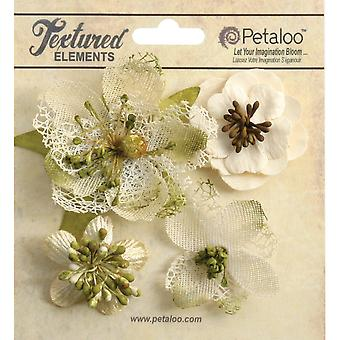 Mixed Textured Blossoms 4 Pkg Ivory P1256 200