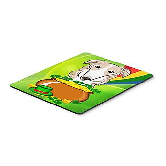Borzoi St. Patrick's Day Mouse Pad, Hot Pad or Trivet BB1972MP