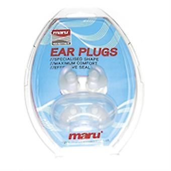 Maru Swim Silicone Ear Plugs - Clear