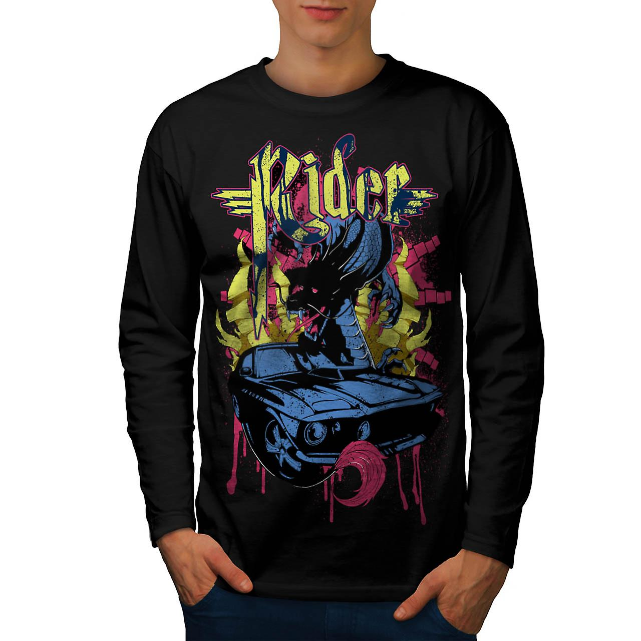 Rider Blood Sport Car Men Black Long Sleeve T-shirt | Wellcoda