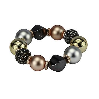 Leila multi-stone charm bracelet