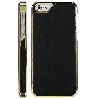 Plastic cover skin for iPhone 5 Golden (black)