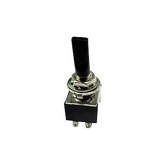 Toggle switch 250 Vac 3 A 2 x On/Off/On SCI TA203G1 BLACK LEVER latch/0/latch 1 pc(s)
