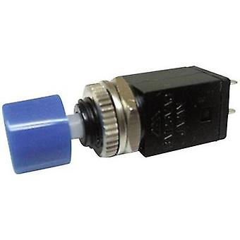 Pushbutton 125 Vac 3 A 1 x Off/(On) Miyama DS-410, BLUE momentary 1 pc(s)