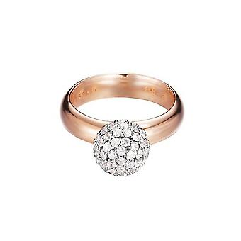 ESPRIT women's ring silver Rosé gold cubic zirconia Glam sphere rose ESRG92309B1