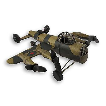 Metal Military Fighter Plane Statue