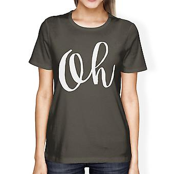 Oh Womens Cool Grey Tees Funny Short Sleeve Crew Neck T-shirts