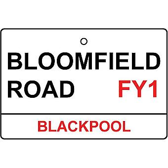 Blackpool / Bloomfield Rd Street Sign Car Air Freshener