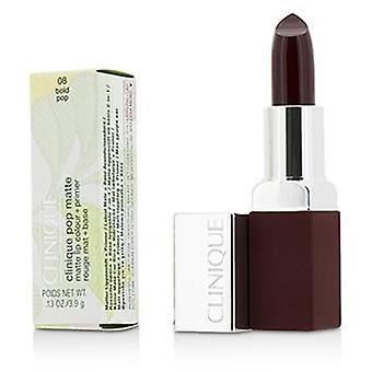 Clinique Pop Matte Lip Colour + Primer - # 08 Bold Pop - 3.9g/0.13oz