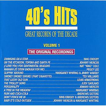 Great Records of the Decade - Great Records of the Decade: Vol. 1-40's Hits [CD] USA import