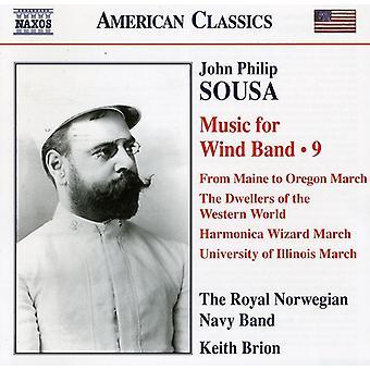 J.P. Sousa - Sousa: Musik til blæserorkester, Vol. 9 [CD] USA import