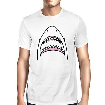 Hai Mens White Graphic T-Shirt leichter Sommer Baumwolle T-Shirt
