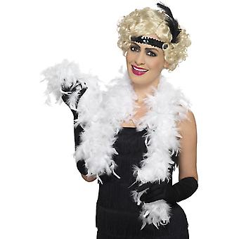 Feather BOA BOA white 20s mafia Federschal 140 cm