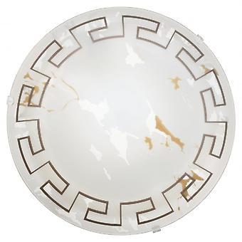 Eglo TWISTER kleinen griechischen Marmor Glas Deckenleuchte