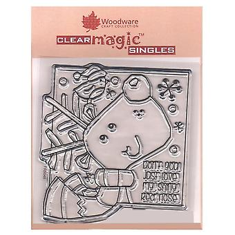 Woodware Clear Stamps Shiny Nose