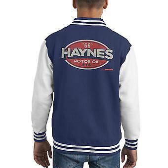 Varsity Jacket Haynes 66 motore olio Golfo Logo capretto