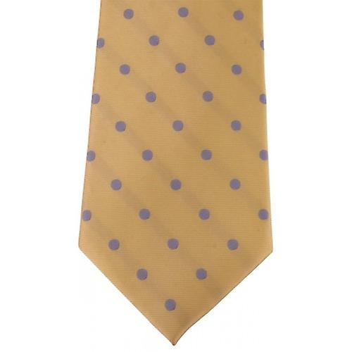 David Van Hagen Polka Dot Tie - Yellow/Lilac