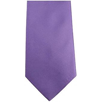 Bassin and Brown Plain Silk Tie - Lilac/Deep Pink