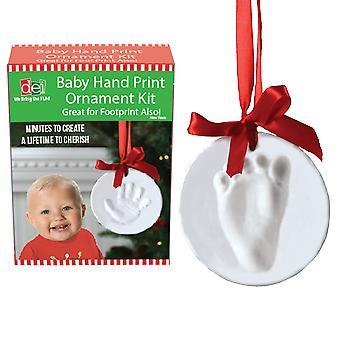 الطفل الطفل الحفيد بصمة اليد بصمة طقم زخرفة عطلة عيد الميلاد ديي