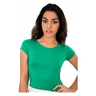The Fashion Bible Basic Crop Top In Green
