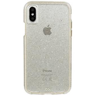 Case-Mate lutter Glam iPhone X sag - Champagne guld