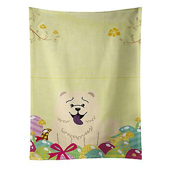 Carolines Treasures  BB6140KTWL Easter Eggs Chow Chow White Kitchen Towel