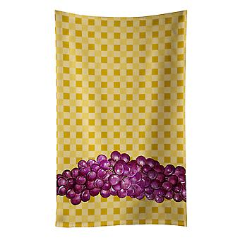 Carolines Treasures  BB7170KTWL Grapes on Basketweave Kitchen Towel