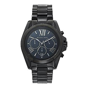 Michael Kors Watches Unisex Chronograph Black Ion Plated Stainless Steel Watch Mk5550