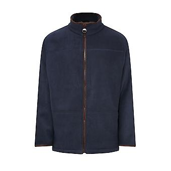 Mens Champion Country Estate Berwick Style Fleece Jacket With Faux Suede Trim