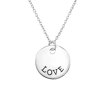 Love Tag - 925 Sterling Silver Plain Necklaces - W30098X