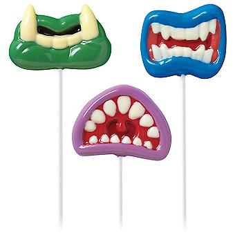 Lutscher Schimmel Monster Mouth 3 Hohlräume 3 Designs W2121