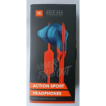 JBL grip 200 in-ear sports ear headphones Schweißbeständig with 1-button remote/mic, Android/iOS - blue