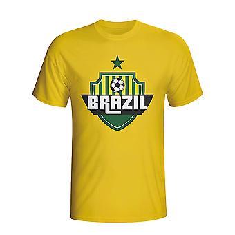 Brasilien land Logo T-shirt (gul) - børn