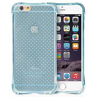 Yousave accessoires Iphone 6 en 6s Air Cushion Gel - Blue Case