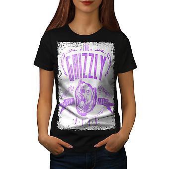 Grizzly Bear Club Frauen BlackT-Shirt   Wellcoda