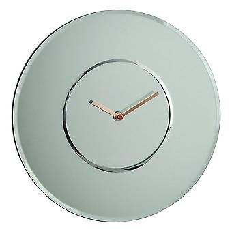 30 cm Round Mirrored Wall Clock