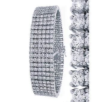 Iced out bling high quality strap - 6 SILVER