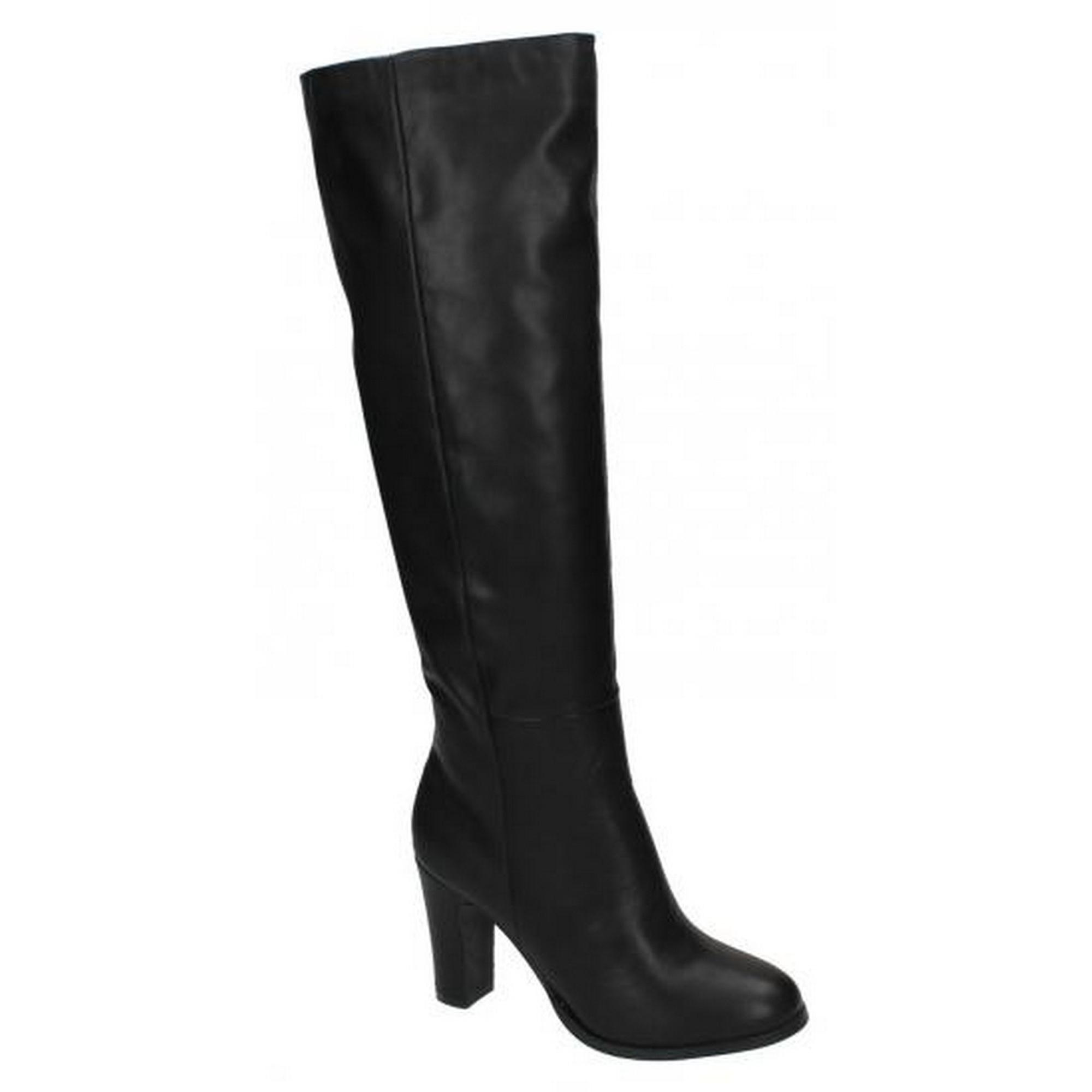 Boots Heeled Womens Knee On High Spot Ladies Y8xAq4