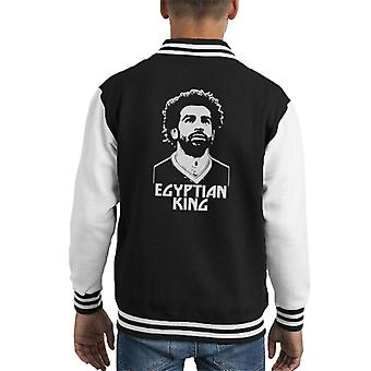 Mo Salah Egyptian King Liverpool Kid's Varsity Jacket