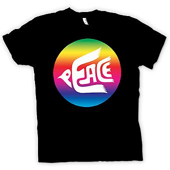 Kinder T-shirt-Frieden-Rainbow-Dove-Logo