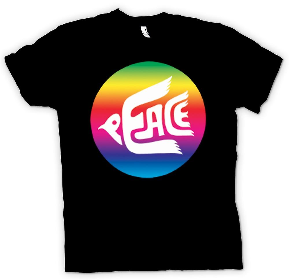 Kids t-skjorte-fred Rainbow Dove Logo