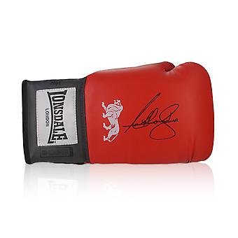 Anthony Joshua Red Lonsdale Signed Boxing Glove