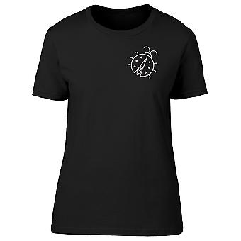 Black And White Ladybug Tee Women's -Image by Shutterstock