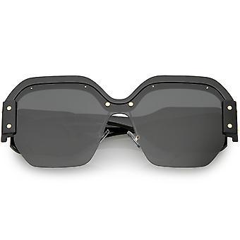 29960904b مسامير معدنية الأسلحة واسعة نظارات مربعة مؤطرة شبه كبيرة الحجم 60 مم