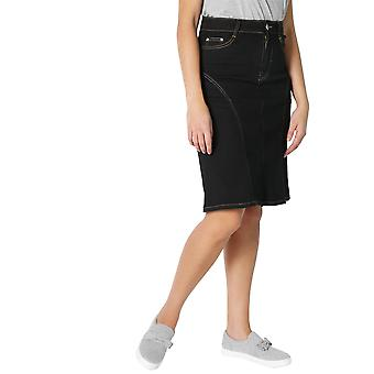 KRISP Panelled Regular A-Line Denim Skirt