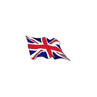 Union Jack tragen Union Jack gewellte Fahne Aufkleber 2