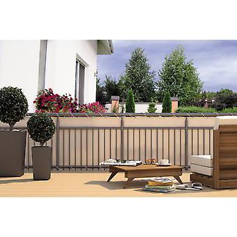Balkonsichtschutz Balkonverkleidung CREME 24 m Kordel Maße: 6 x 0,9 m Polyester